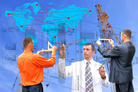 projection -initial preparatory stage in construction new building Stock Photo - 7761643