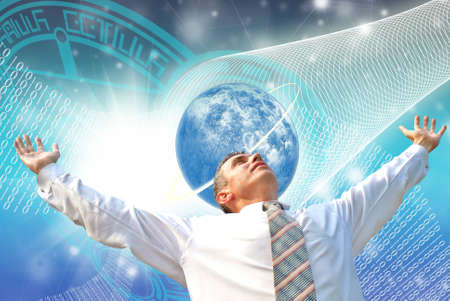 mentality: high energy generate new mentality in free outer space