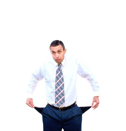 unexpectedness: experiencia de empresario adultos conmocionado avergonzado y problema de finanzas