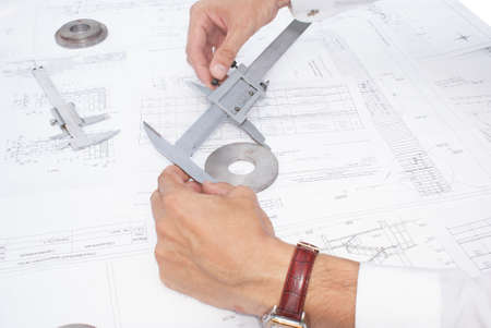 Quality assurance of the made details in mechanical engineering photo
