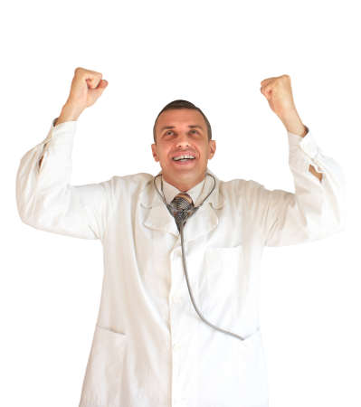 successes: The doctor rejoices to the successes in professional work