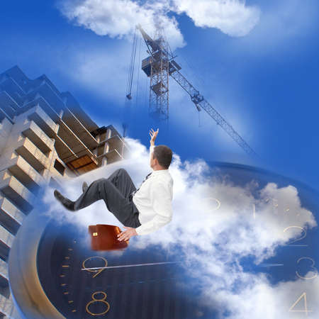 The newest building technologies will appear in the near future on horizon of modern business photo