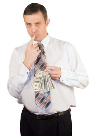 favourable: The businessman thinks of favourable capital investment in the industry Stock Photo