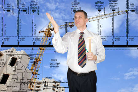 Engineering designing of residential buildings and office premises is carried out by high quality experts Stock Photo - 8724859