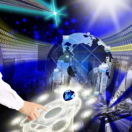 The newest the technology Internet are created in scientific laboratories and institutes Stock Photo - 8724941