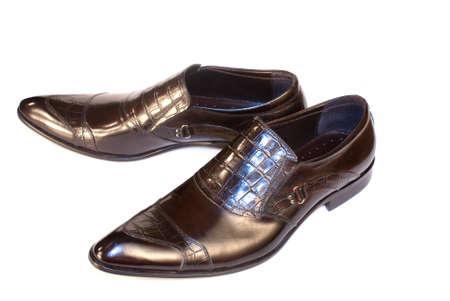Elegant model of man's footwear of a spring-and-summer season Stock Photo - 8838275