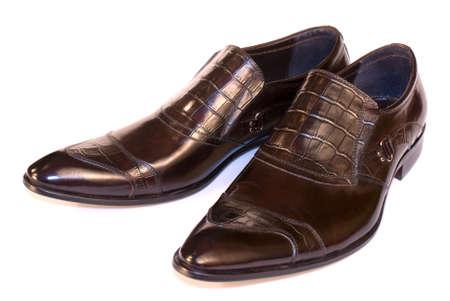Elegant model of man's footwear of a spring-and-summer season Stock Photo - 8838320