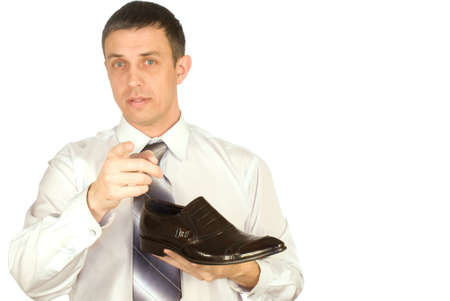 The elegant man always chooses the best model of footwear photo
