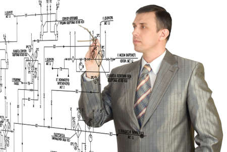 The engineer-designer develops the scheme of automation of connection of a power electric equipment