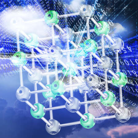 researches: The newest technologies of physical researches Stock Photo