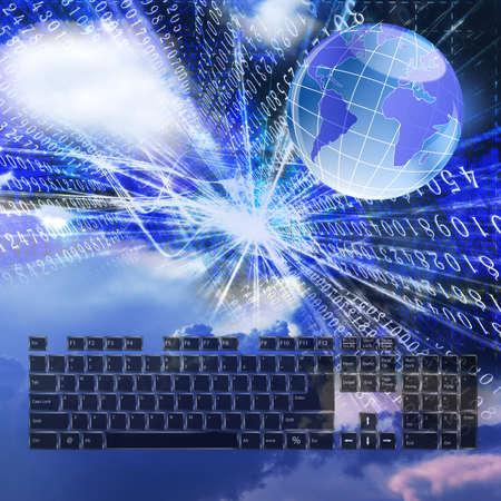 Concevoir des technologies plus récentes de mondial de télécommunications Banque d'images