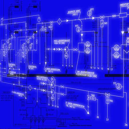 redes electricas: Dise�o de ingenier�a de sistemas de automatizaci�n de los equipos el�ctricos de potencia industrial Foto de archivo