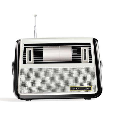 transistor: El retro presentar� un receptor de radio caliente memorias y melod�as musicales favoritos  Vectores