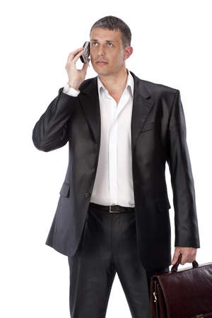 Mobile cellular communication helps to solve in due time business matters in business Stock Photo - 9554803