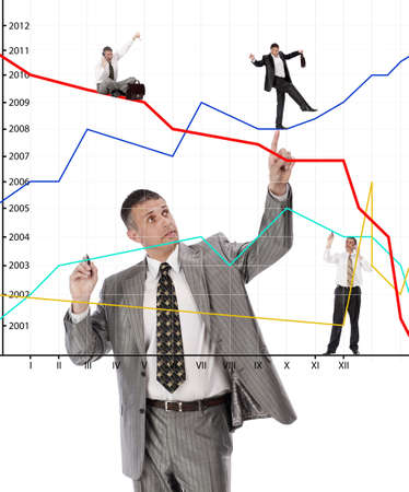 The successful businessman does not hide a secret of the success in financial business Stock Photo