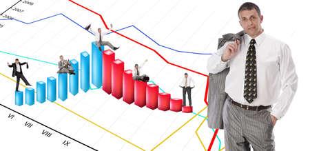 The successful businessman is ready to win the world of financial business photo