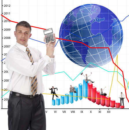 The successful businessman does not hide a secret of the success in financial business Stock Photo - 9605574