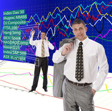 The successful businessman does not hide a secret of the success in financial business photo