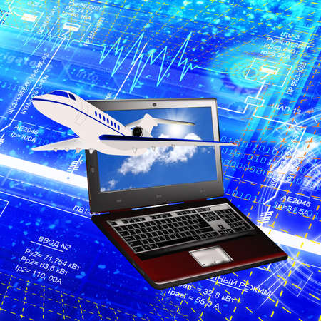 Designing of the newest technologies in sphere of development of the aviation industry Stock Photo - 9678496