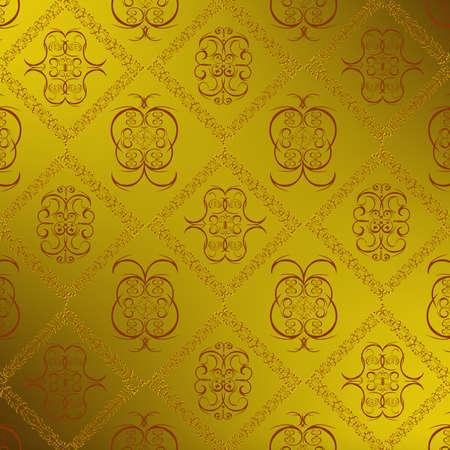 Decorative seamless wallpaper Stock Vector - 9762853