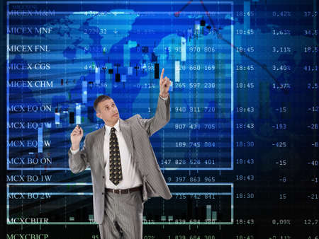 buying stock: Financial business