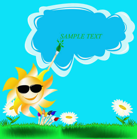 Summer solar picture Vector