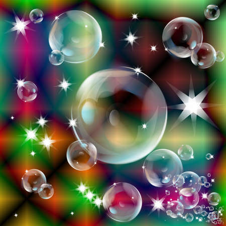 Soap bubbles on an abstract background photo