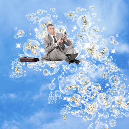 The expected big profit on financial investments can burst as if a soap bubble Stock Photo - 10585474