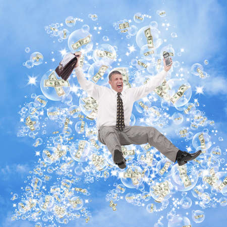 Pink dreams of profit on financial investments as if soap bubbles Stock Photo - 10585483