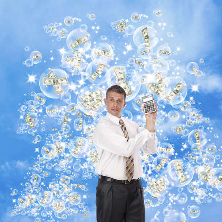 The expected big profit on financial investments can burst as if a soap bubble Stock Photo - 10585478