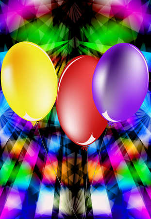 Abstract celebratory illustration with balloons for placing of your text Vector