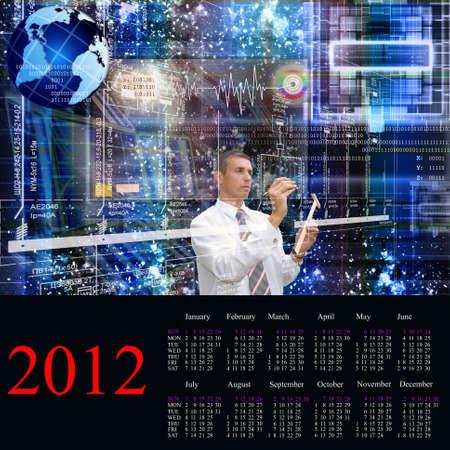 The newest Internet technologies.2012 Calendar. photo