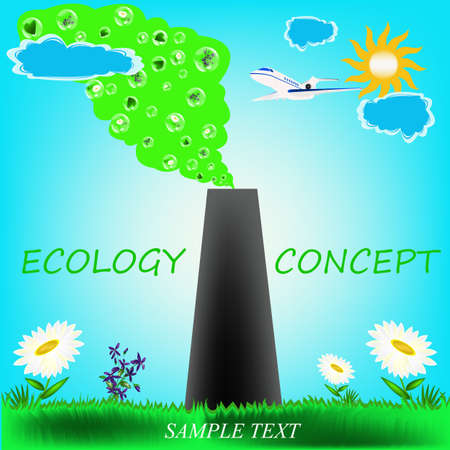 Protective actions from polluting emissions in atmosphere, are the modern ecological concept Vector
