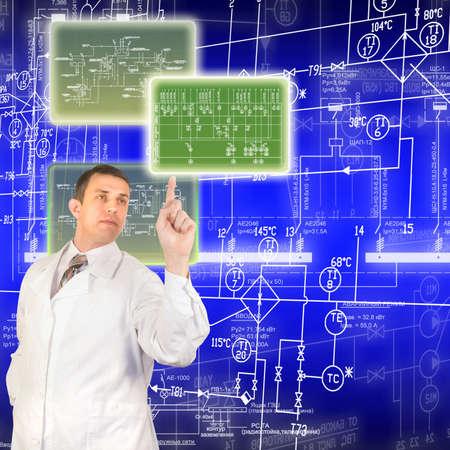 ingenieur electricien: Les technologies innovantes de la conception informatique Banque d'images