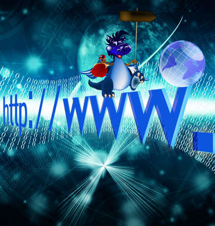 The newest the technology Internet in a year of the Dark blue Dragon photo