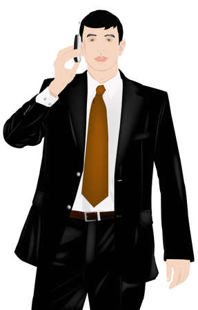 dealing: The successful businessman prefers reliable cellular communication for business dealing