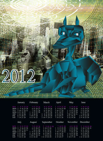 newest: The newest computer the technology Internet in New Year of the Dark blue fantastic Dragon