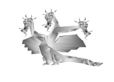 Fantastic dragon a symbol 2012 new years on white background photo
