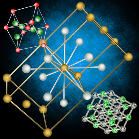 Scientific researches in the field of a structure of molecular crystal lattices Stock Photo - 11675093