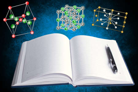 Innovative techniques of studying of a molecular structure of crystal lattices Stock Photo - 11675090
