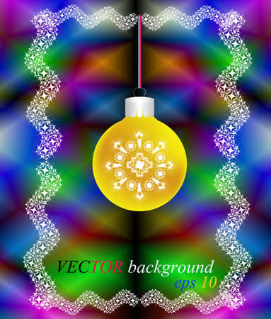 New Year's and Christmas celebratory card on an abstract background Vector