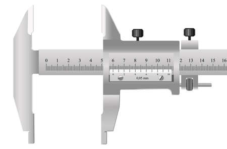 The measuring tool for quality assurance of details in mechanical engineering and in other manufactures Ilustração