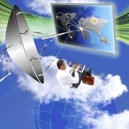 evolucion: La creaci�n de sistemas innovadores de comunicaciones, telecomunicaciones e Internet Foto de archivo