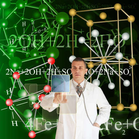 The newest technologies in the field of molecular chemistry and genetics Stock Photo