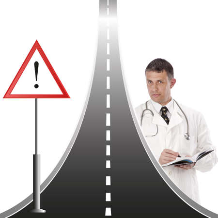 medical attention: The public health services warn about the raised danger to drivers and pedestrians on a motorway