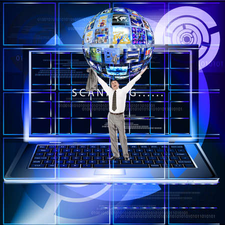 antivirus software: The anti-virus software in social networks the Internet Stock Photo
