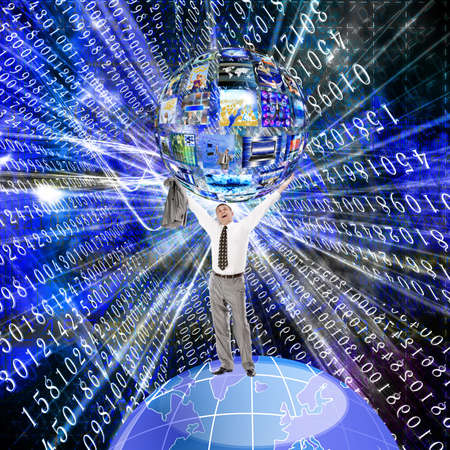 The anti-virus software in social networks the Internet Stock Photo - 12861758