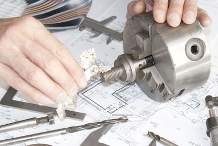 Measurement of quality of finished goods in the industrial industry photo