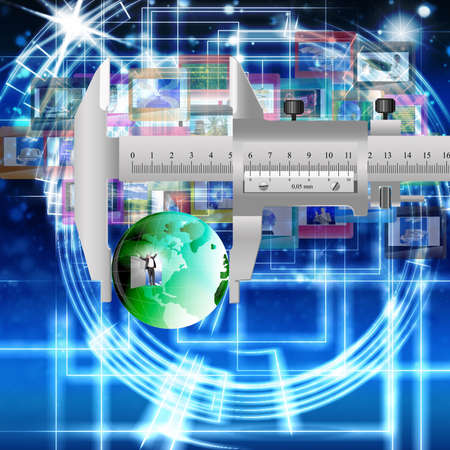 Innovative computer the Internet of technology for social networks  The concept the Internet Stock Photo - 12871872