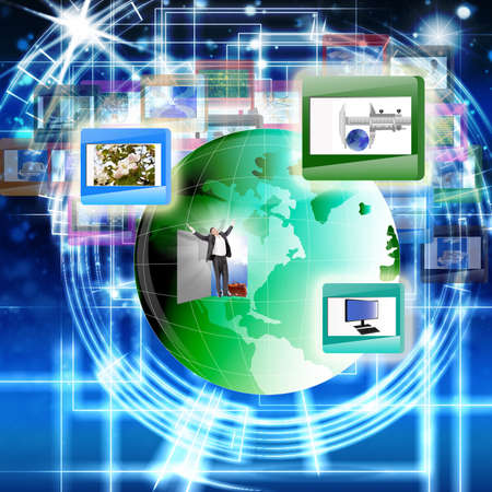Innovative computer the Internet of technology for social networks  The concept the Internet Stock Photo - 12871866